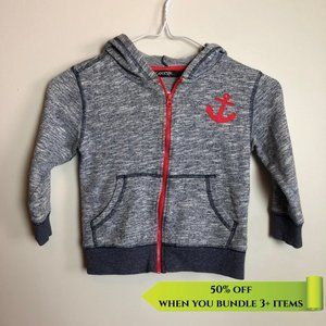 George Blue Zip Up Anchor Hoody - Size 4Y